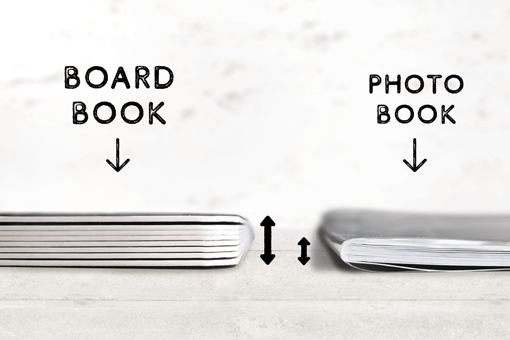Board Book is thickness. You don't have to worry about tears or folds.