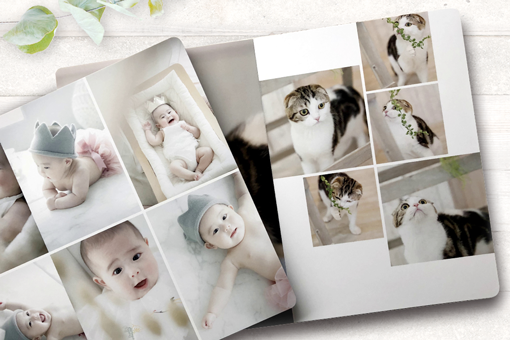 It's equipped with a layout-change function which is popular for photo books.