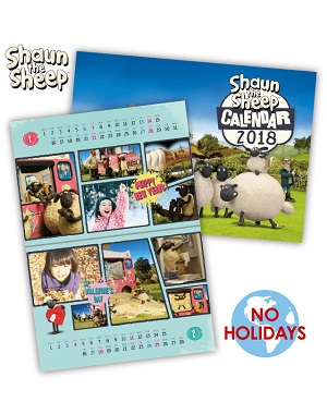 Shaun the Sheep calendar #02 2018 - No holidays